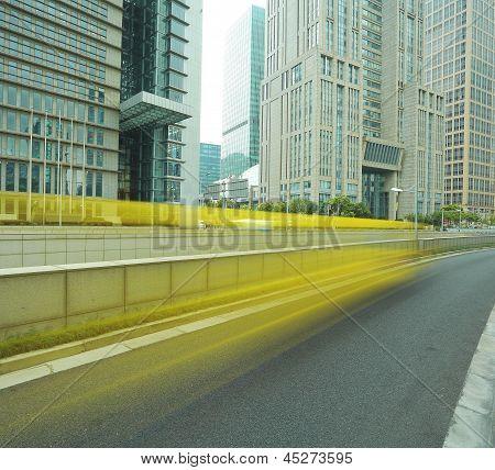 Shanghai Lujiazui City Landscape Of Street Scene Streetscape