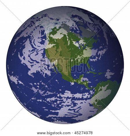 Planet Earth, isolated on white