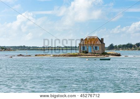 Picturesque house in a little islet