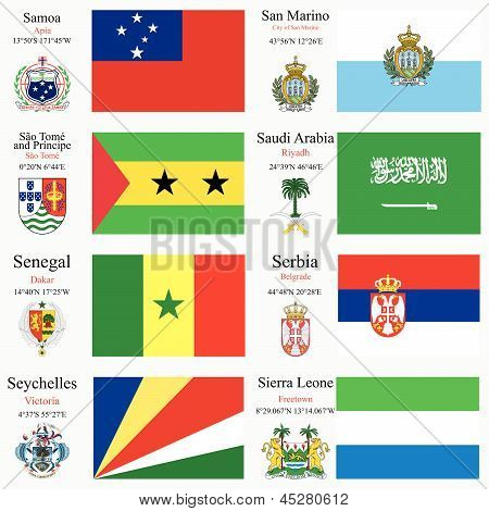 World Flags And Capitals Set 21