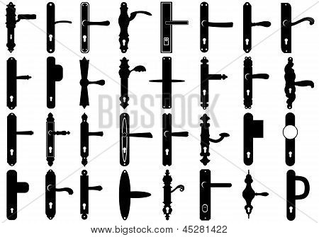Set of door knobs