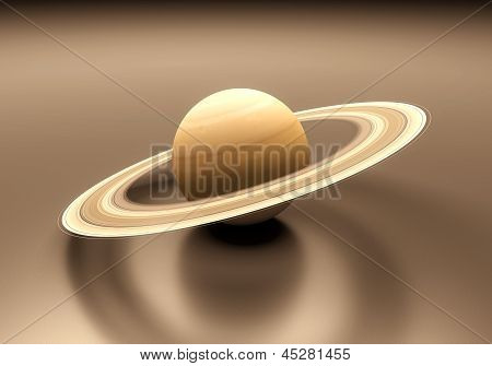 Planet Saturn Blank