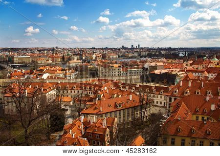 View Of Prague Center, Czech Republic