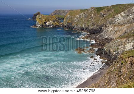Rugged cliffs of Cornwall