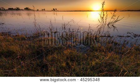 Misty Lake Sunrise