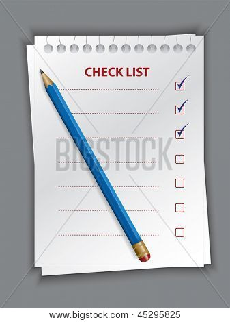 check list. Rasterized illustration. Vector version in my portfolio