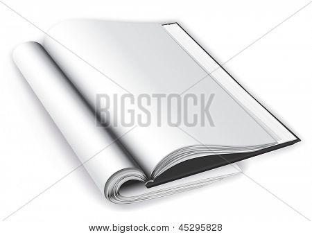 Open magazine layout. Rasterized illustration. Vector version in my portfolio