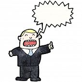 shouting boss cartoon