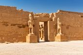 stock photo of ramses  - Ancient architecture of Karnak temple in Luxor - JPG