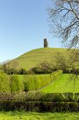 Glastonbury heuvel Tor Somerset Engeland