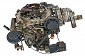 stock photo of carburetor  - Used carburetor from the fuel supply system of gasoline engine - JPG