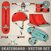 Skateboard-Vector-Set