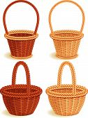 pic of easter basket  - The Vector illustration  - JPG