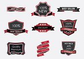 vintage black  Badges  vector
