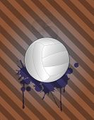 foto of stein  - illustration of volley ball with grunge stein - JPG