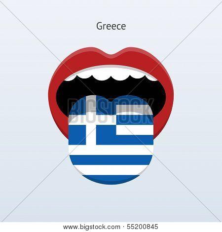 Greece language. Abstract human tongue.
