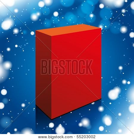 Vector red box