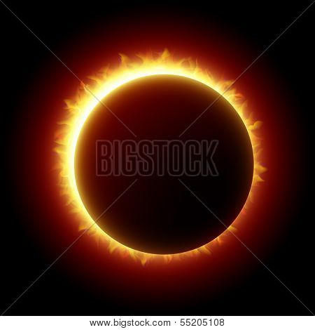 Solar Eclipse. Vector.