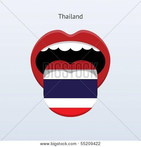 Thailand language. Abstract human tongue.