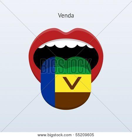Venda language. Abstract human tongue.