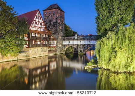 Nuremberg, Germany cityscape panorama.