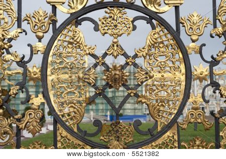 Gate To Catherines Palace In Russia