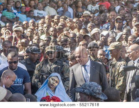 Haitian President on a Public Street