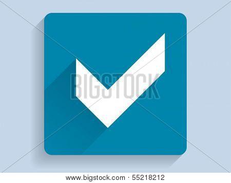 3d Vector illustration of check box icon