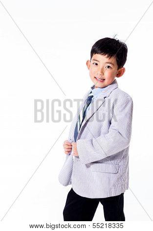 Cute Asian Boy in Suit