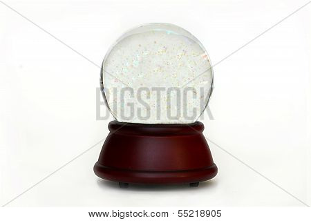 Isolated Empty Snow Globe With Copyspace