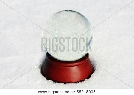 Empty Snow Globe With Copyspace