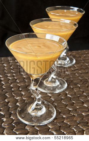 Carmel Pudding In A Martini Glass