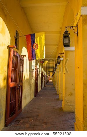 Passageway And Flags