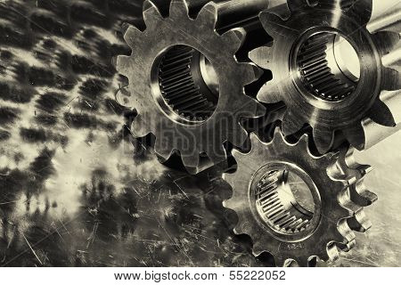 titanium and steel gears, engineering parts