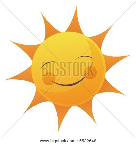 Cartoon Sun Face