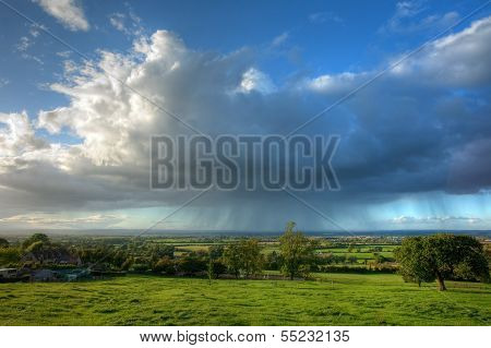 Rain Falling Over Gloucestershire