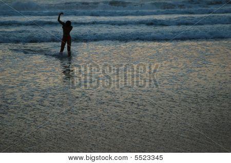 Woman Sea