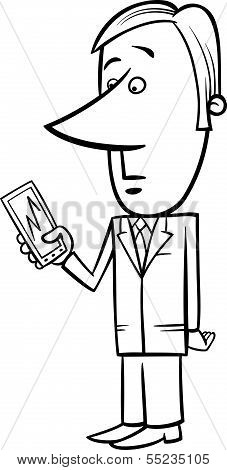 Businessman And Graph On Tablet Pc