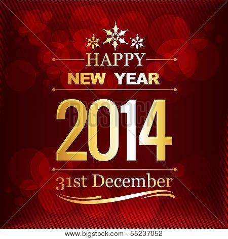 Happy new year vector design illustration