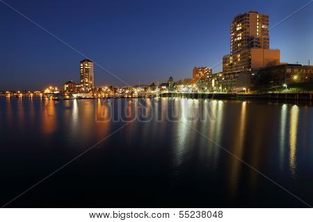 Nanaimo Harbor Twilight, British Columbia