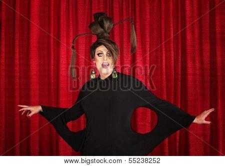 Drag Queen In Weird Dress