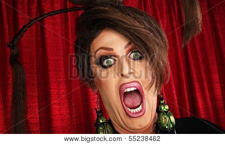 Screaming Man In Drag