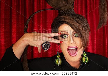 Laughing Drag Queen