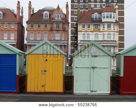 Colorful Sheds In Brighton, Uk