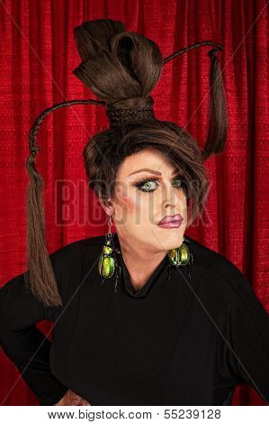 Serious Drag Queen In Black