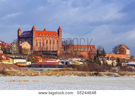 Teutonic castle in Gniew town at Wierzyca river, Poland