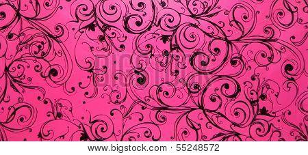 Pink Swirly Black