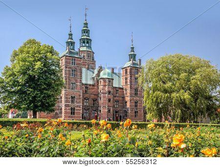 Rose Garden And Rosenborg Palace In Copenhagen