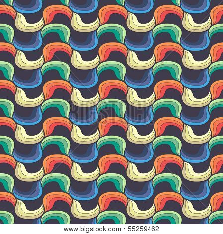 Seamless wave hand-drawn pattern