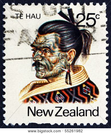 Postage Stamp New Zealand 1980 Te Hau Takiri Wharepapa, Maori Le
